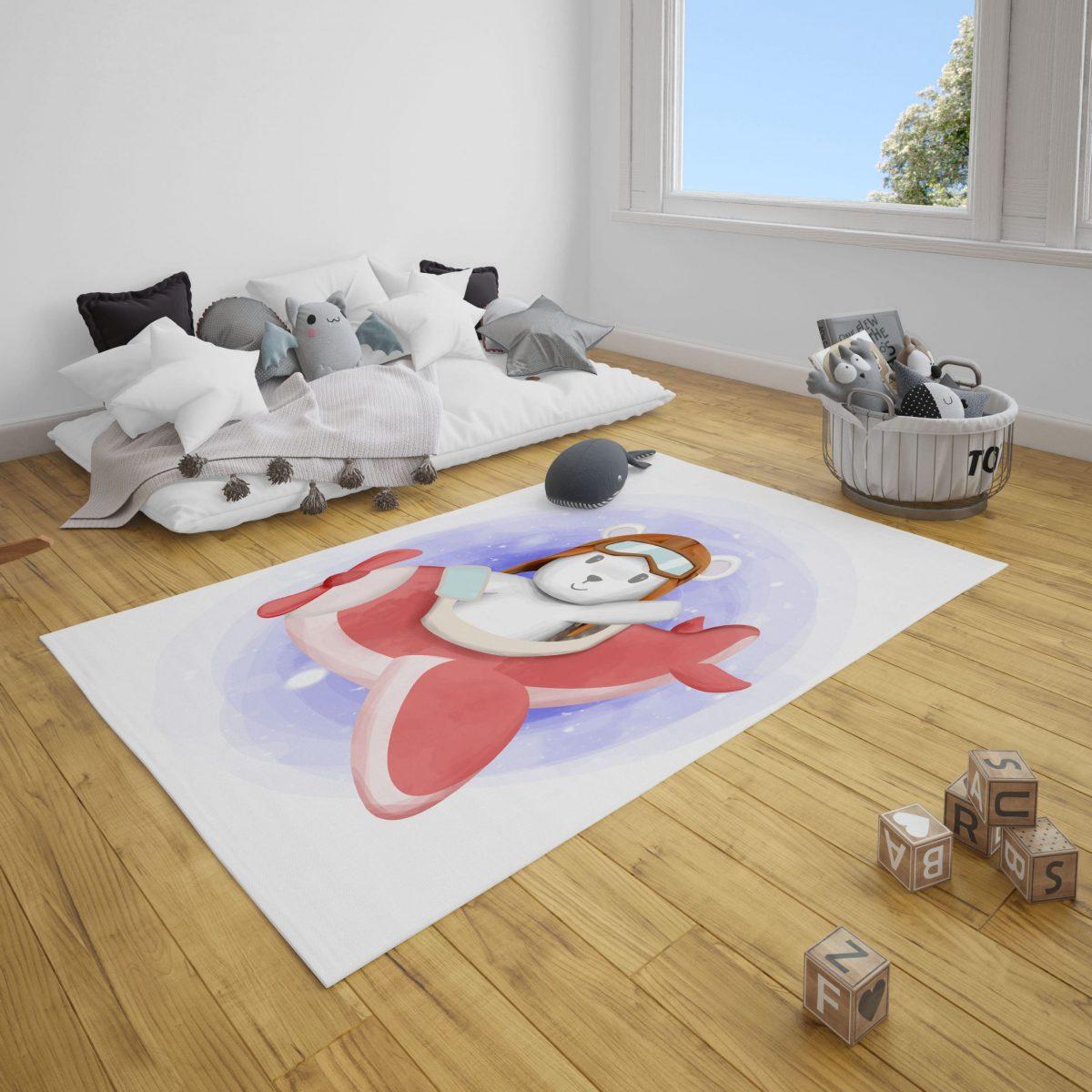 Vecihi Ayı Bebek Odası ve Çocuk Odası Halı