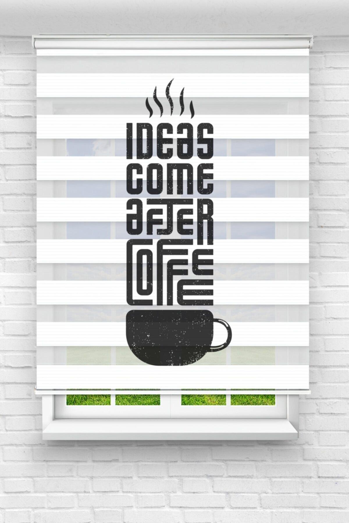 Fikir Kahveden Sonra Gelir Mutfak Stor Zebra Perde