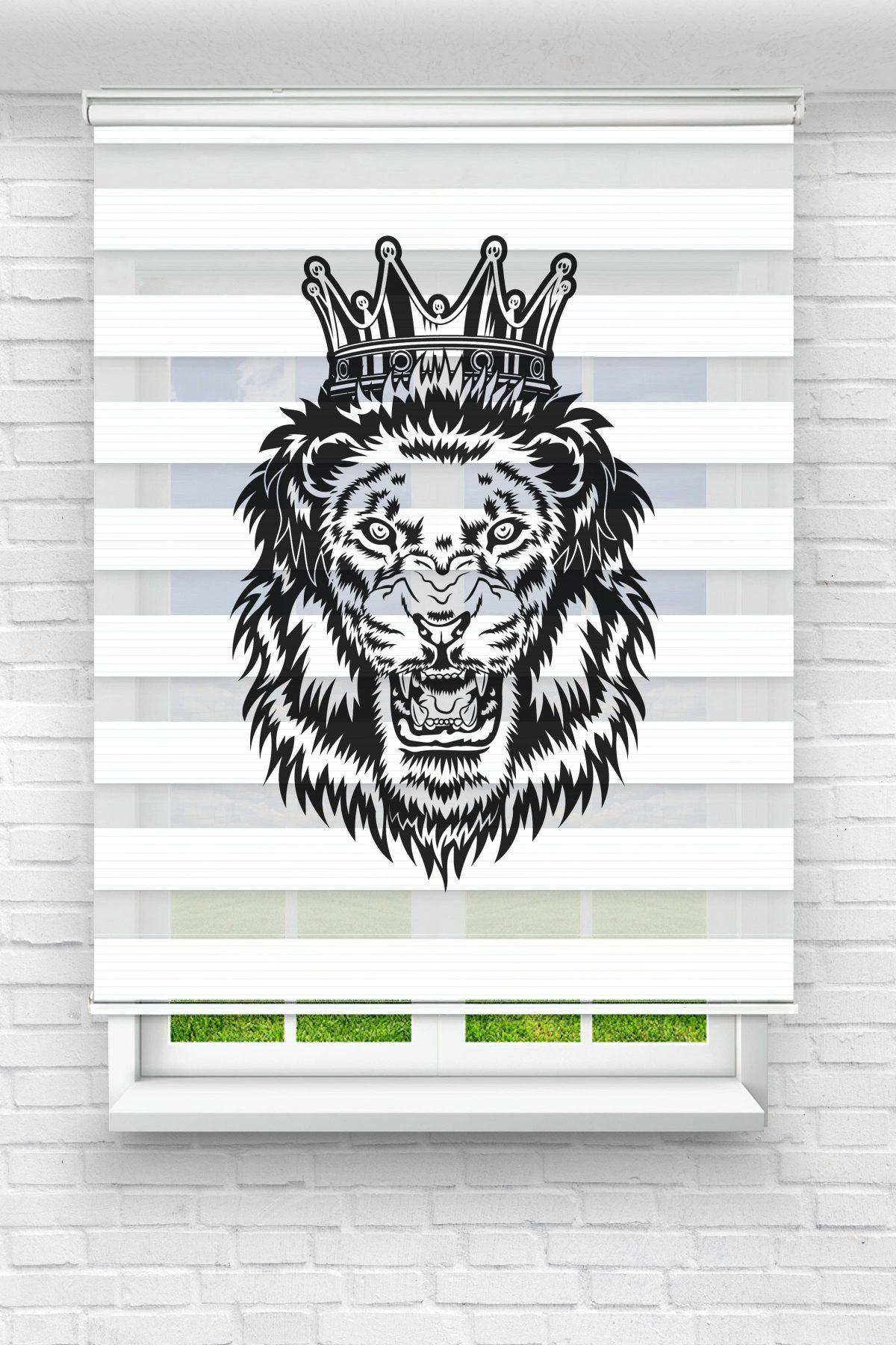 King Leon Genç Odası Stor Zebra Perde