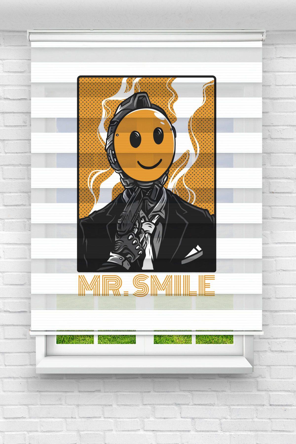 Mr Smile Genç Odası Stor Zebra Perde