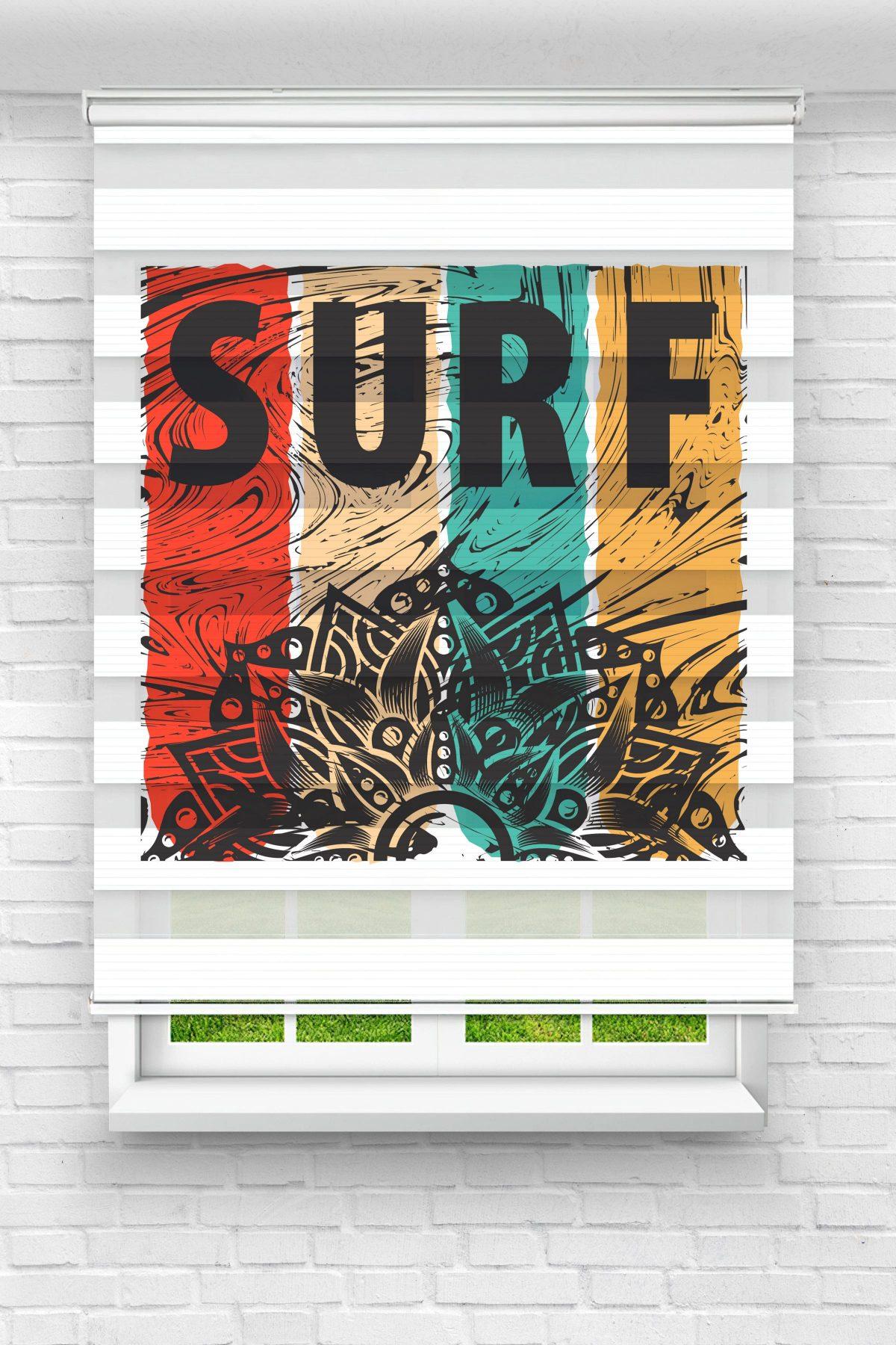 Surf Genç Odası Stor Zebra Perde