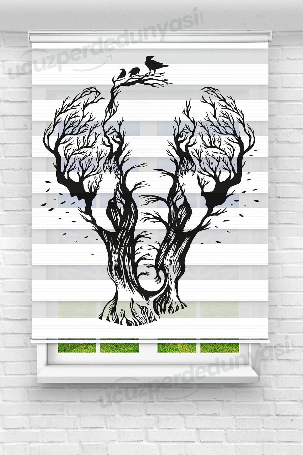 Koca Fil Genç Odası Zebra Perde