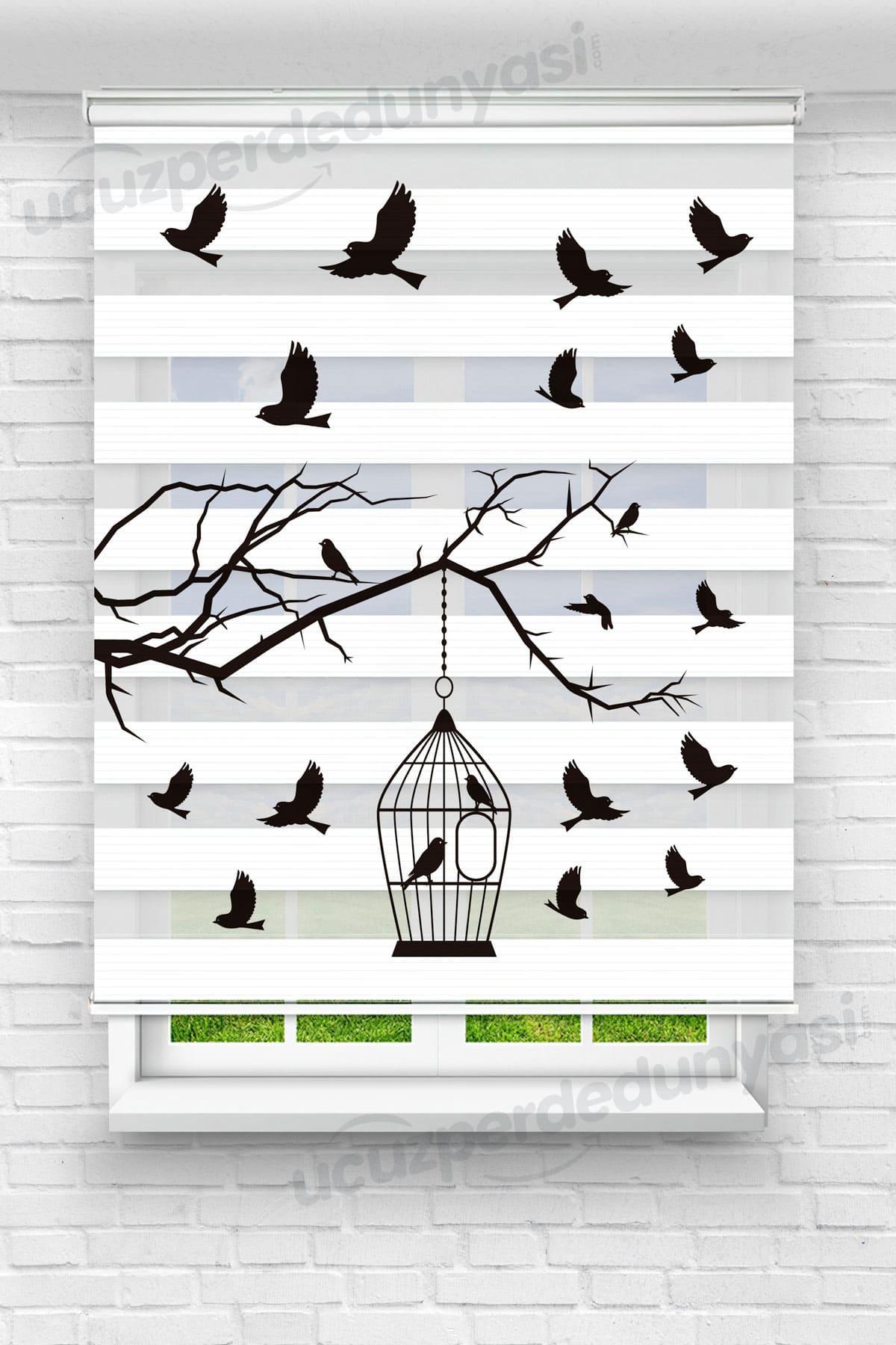 Kuş Kafesi Mutfak Zebra Perde