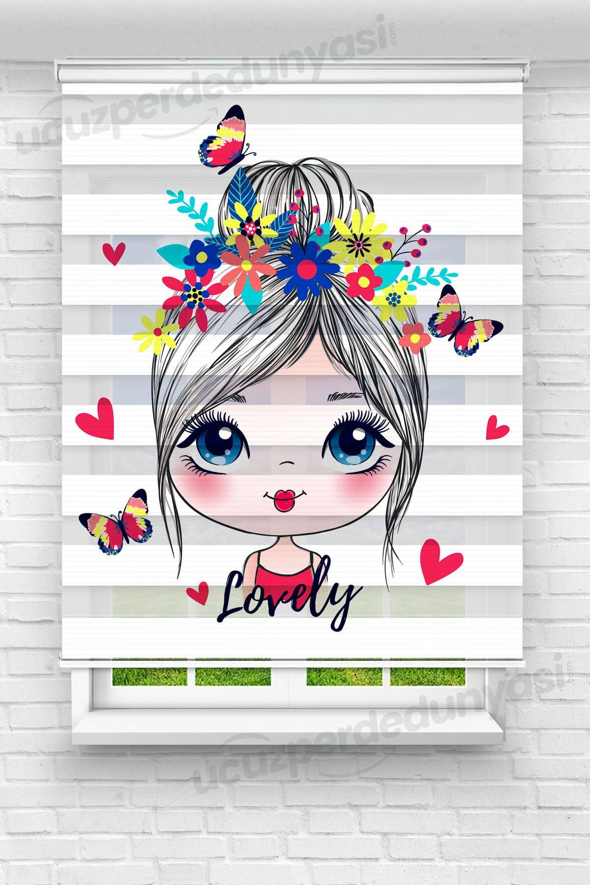 Lovely Kız Çocuk Odası Zebra Perde