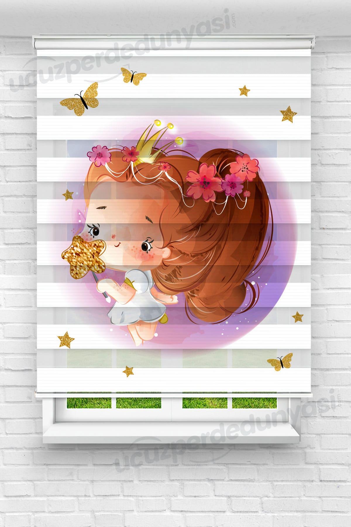 Minik Prenses Çocuk Odası Zebra Perde