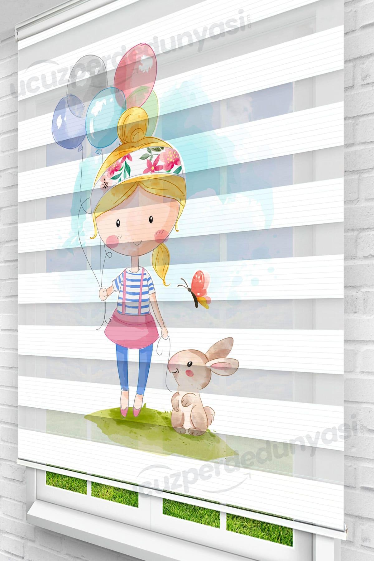 Safinaz Kız Çocuk Odası Zebra Perde