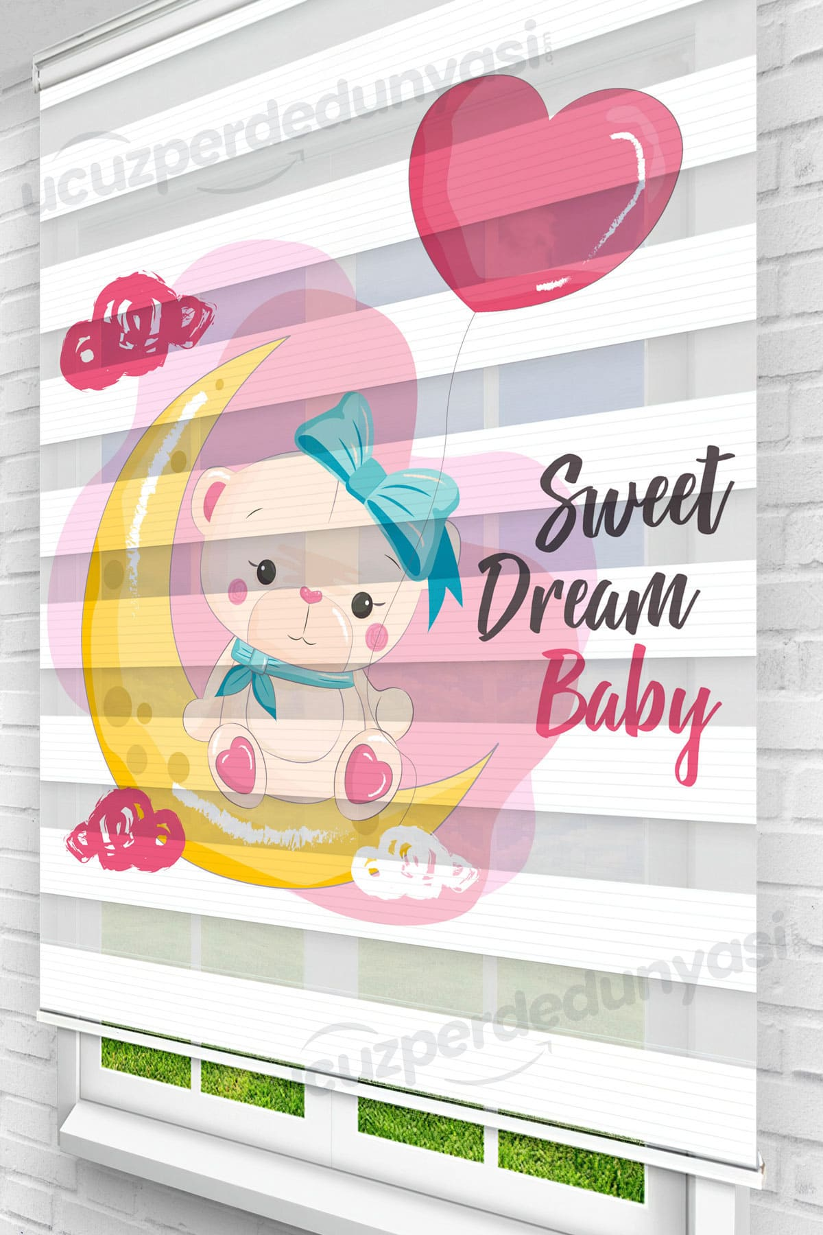 Sweet Dreams Baby Çocuk Odası Zebra Perde